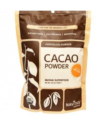 Cacaobonen, Poeder, Raw & Organic (454 gram) - Navitas Naturals