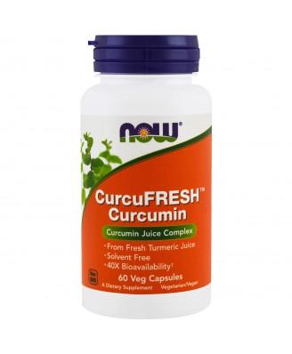 CurcuFresh Curcumin (60 Vegetarian Capsules) - Now Foods