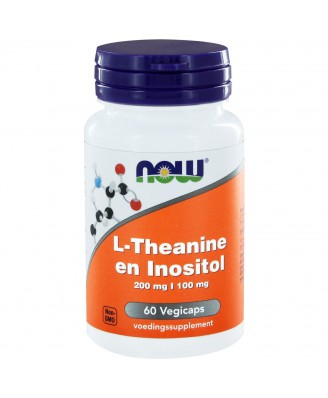 L-Theanine 200 mg en Inositol 100 mg  (60 vegicaps) - NOW Foods
