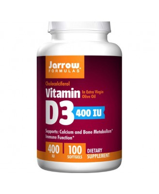 Vitamine D - Vitamine D3, 400 IE (100 Softgels) - Jarrow Formulas