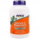 Calcium & Magnesium Powder (227 g) - Now Foods