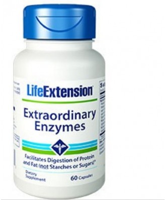 Extraordinary Enzymes - 60 Capsules - Life Extension