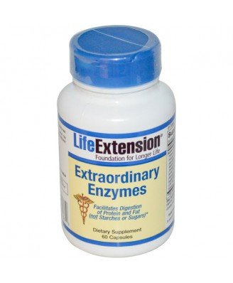 Extraordinary Enzymes (60 Capsules) - Life Extension