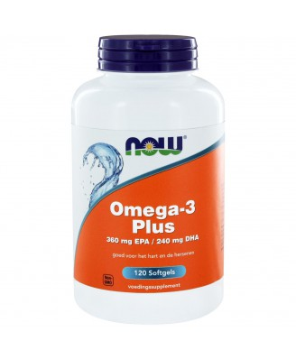 Omega-3 Plus 360 mg EPA 240 mg DHA (120 softgels) - NOW Foods