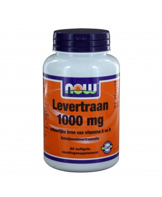 Levertraan 1000 mg (90 softgels) - NOW Foods