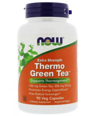Thermo Green Tea Extra Strength (90 Vegetarian Capsules) - Now Foods