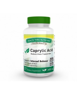 Caprylic Acid 600 mg (non-GMO) (100 Softgels) - Health Thru Nutrition
