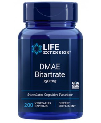 DMAE Bitartrate 150 mg (200 Veggie Capsules) - Life Extension