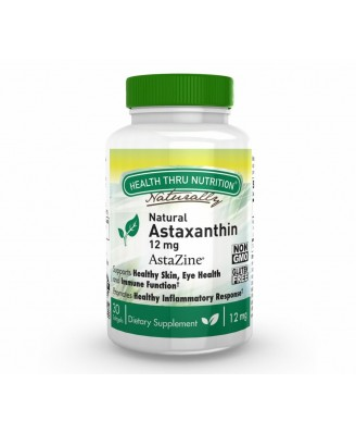 Astaxanthin 12mg - Natural (non-GMO) (30 Softgels) - Health Thru Nutrition