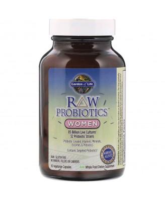 RAW Probiotics- Women (90 Vegetarian Capsules) - Garden of Life