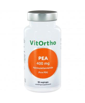 PEA 400 mg palmitoylethanolamide (Pure PEA) (90 vegicaps) - VitOrtho