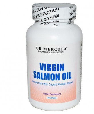 Dr. Mercola, Virgin Salmon Oil, 90 Softgels