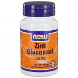 Zink Gluconaat 50 mg (100 tabs) - NOW Foods