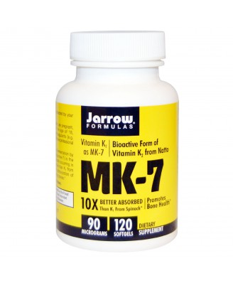 MK-7 Vitamin K2 as MK-7, 90 mcg (120 Softgels) - Jarrow Formulas