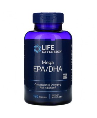 Omega Foundations Mega EPA/DHA (120 Softgels) - Life Extension