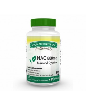 N-Acetyl Cysteine NAC 600 mg (non-GMO) (120 Vegicaps) - Health Thru Nutrition
