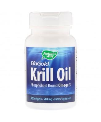 Nature's Way, EfaGold, Krill Oil, 500 mg, 60 Softgels