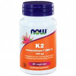 K2 Menachinon-7 (MK-7) 100 µg  (60 vegicaps) - NOW Foods