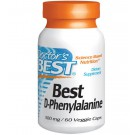 Best D-Phenylalanine 500 mg (60 Veggie Caps ) - Doctor's Best