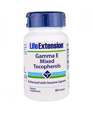 Gamma E Mixed Tocopherols (60 Softgels) - Life Extension