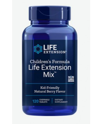 Children's Formula Life Extension Mix - Natural Berry Flavor (120 Chewable Tablets) - Life Extension