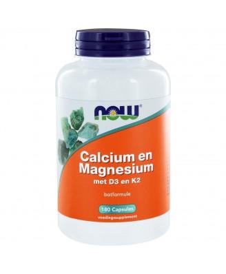 Calcium & Magnesium DK (180 caps) - NOW Foods