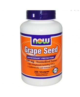Grape Seed - Standardized Extract - 100 mg (200 Veggie Caps) - Now Foods