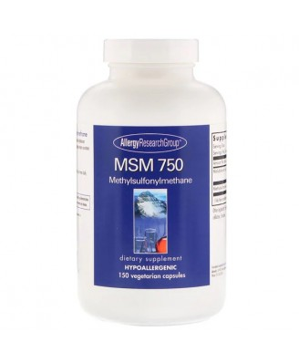 MSM 750 150 Vegetarian Capsules - Allergy Research Group