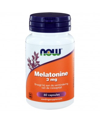 Melatonine 3 mg (60 caps) - NOW Foods