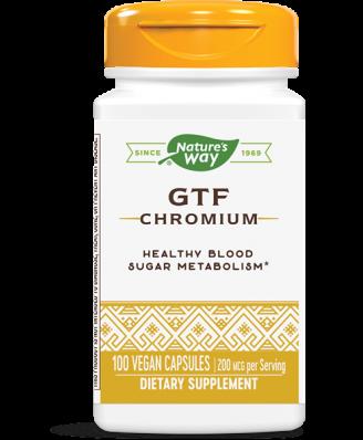 GTF CHROMIUM- POLYNICOTINATE (100 CAPSULES) - NATURE'S WAY