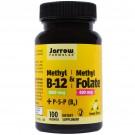 Jarrow Formulas, Methyl B-12 & Methyl Folate, Lemon Flavor, 1,000 mcg / 400 mcg, 100 Lozenges