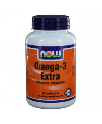 Omega-3 Extra 500 mg EPA 250 mg DHA (90 softgels) - NOW Foods
