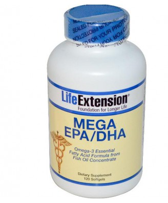 Life Extension, Mega EPA/DHA, 120 Softgels