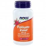 Foliumzuur 800 μg (250 tabs) - NOW Foods