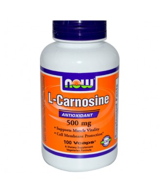 L-Carnosine 500 mg (100 Veg Capsules) - Now Foods