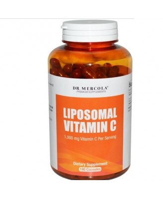 Dr. Mercola, Premium Supplements, Liposomal Vitamin C, 180 Capsules