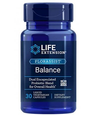 FlorAssist Balance (30 Liquid Veggie Caps ) - Life Extension