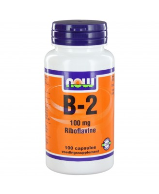 B2 100 mg (100 caps) - NOW Foods