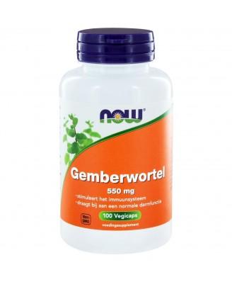 Now Foods, Gember wortel, 550 mg, 100 Capsules