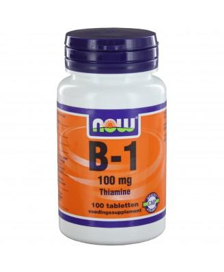 B1 100 mg (100 tabs) - NOW Foods