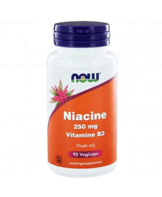 Niacine Flush vrij 250 mg (90 vegicaps) - NOW Foods