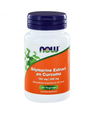 Silymarine Extract 150 mg en Curcuma 350 mg (60 vegicaps) - NOW Foods