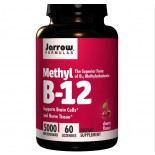 Vitamine B - Methylcobalamine vitamine B12, 5000 mcg (60 Lozenges) - Jarrow Formulas
