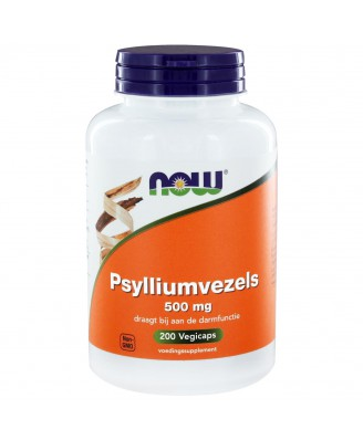 Psylliumvezels 500 mg (200 caps) - NOW Foods