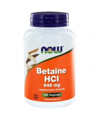 Betaïne HCl 648 mg (120 capsules) - Now Foods