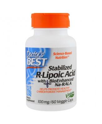 Stabilized R-Lipoic Acid 100 mg (60 Veggie Caps) - Doctor's Best