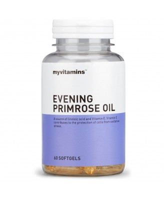 Myvitamins Evening Primrose Oil, 60 Soft Gels (60 Softgels) - Myvitamins