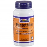 Pantethine 300 mg (60 softgels) - NOW Foods