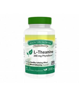 L-Theanine (as PhytoSure™) 200 mg (non-GMO) (60 Vegicaps) - Health Thru Nutrition