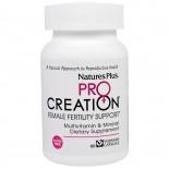 ProCreation, Female Fertility Support (60 Veggie Caps) - Nature's Plus
